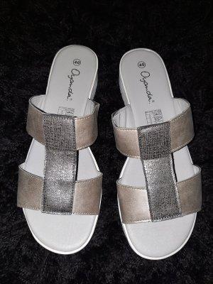 oyanda Heel Pantolettes camel-light grey