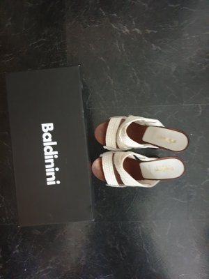 Baldinini Trend Heel Pantolettes white