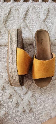 MALIEN Heel Pantolettes multicolored mixture fibre