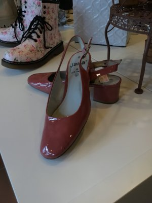 Jana Heel Pantolettes pink-dusky pink leather