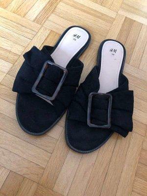 H&M Zomerschoenen met hak zwart Gemengd weefsel