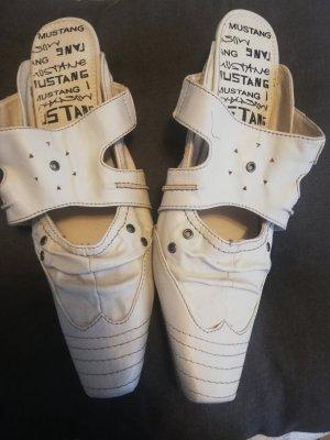 Mustang Shoes Heel Pantolettes cream