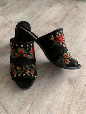 Catwalk Heel Pantolettes multicolored