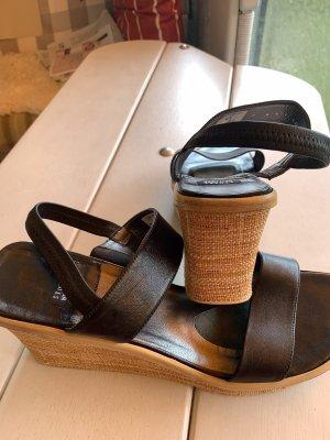 Stuart weitzman Heel Pantolettes black leather
