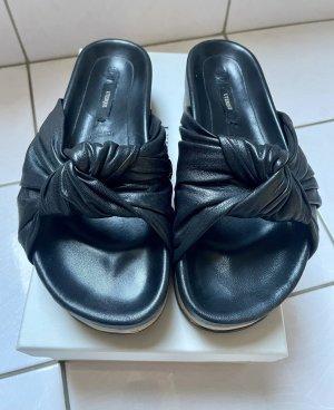 Uterqüe Platform High-Heeled Sandal black