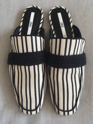 Zara Sabot noir-blanc