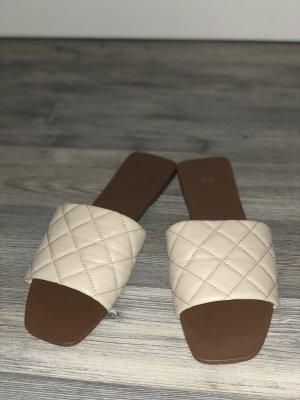 H&M Basic Sabots beige-nude