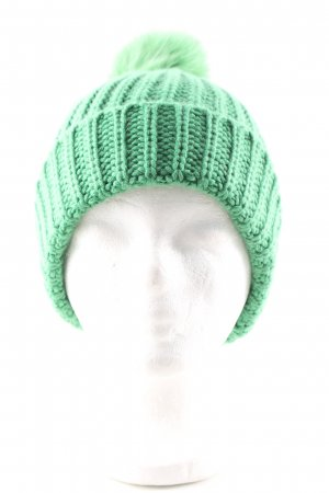 Paola Cipriani Fabric Hat green cable stitch casual look