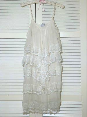 Paola Frani Lace Dress natural white silk