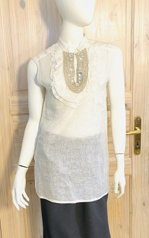Paola Frani Blouse Top natural white linen