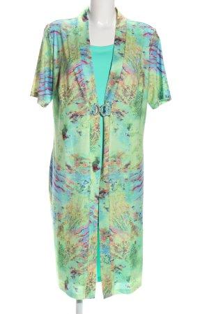 Paola! Jerseykleid grün-blau abstraktes Muster Casual-Look
