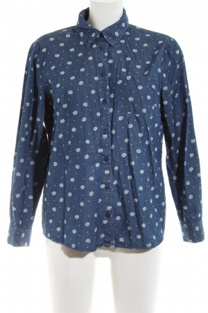 Paola! Long Sleeve Shirt blue-white allover print casual look