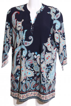 Paola! Long-Bluse abstraktes Muster Elegant