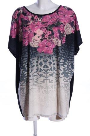 Paola! Print-Shirt abstraktes Muster Casual-Look