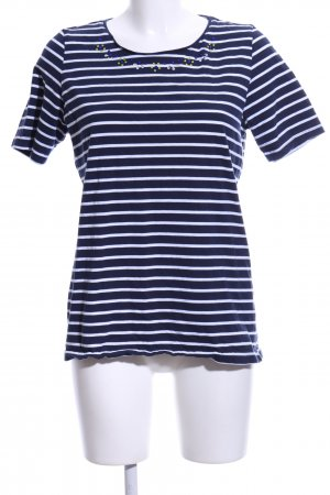 Paola! Stripe Shirt blue-white allover print casual look