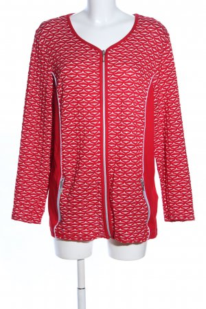 Paola! Shirtjacke rot-weiß grafisches Muster Casual-Look