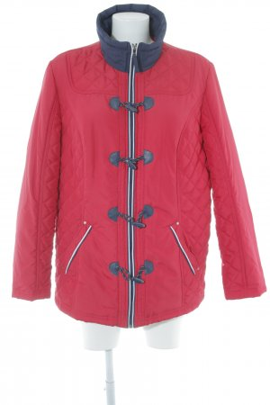 Paola! Steppjacke rot-dunkelblau Steppmuster Casual-Look