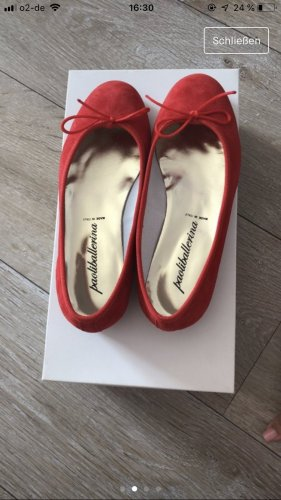 Mary Jane Ballerinas brick red suede