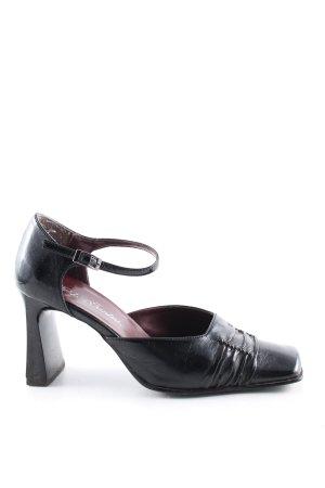Paolo Santini Riemchenpumps schwarz extravaganter Stil