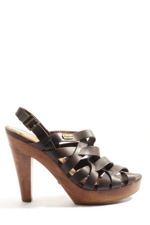 Pepe Jeans High Heel Sandaletten braun Business-Look