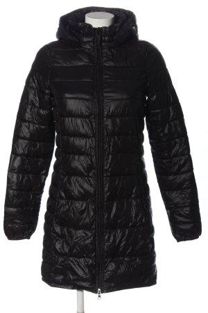 Papa Jeans Lang jack zwart quilten patroon casual uitstraling
