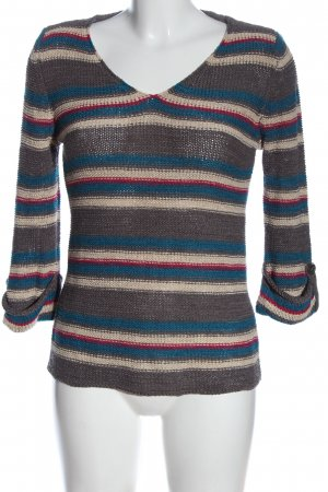 Papaya Crochet Sweater striped pattern casual look