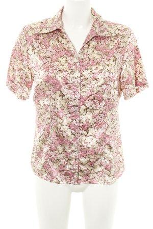 Papaya Camicia blusa crema-rosa motivo floreale stile casual