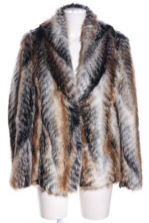 Papaya Manteau court motif animal style décontracté