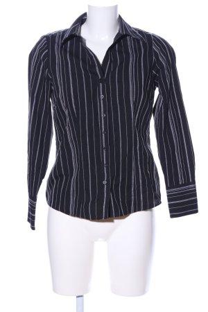 Papaya Camicia a maniche lunghe nero-bianco motivo a righe stile professionale