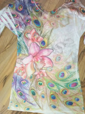 Papaya Hauts épaule nues multicolore polyester