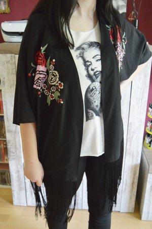 Papaya Blusa kimono nero