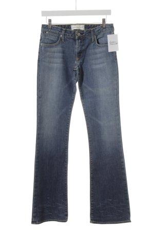 paper denim&cloth Jeans flare bleu foncé-bleu clair style mode des rues