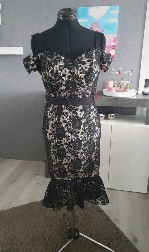 Paper Dolls Robe en dentelle noir-beige clair