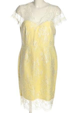 Paper Dolls Spitzenkleid blassgelb-weiß Webmuster Casual-Look