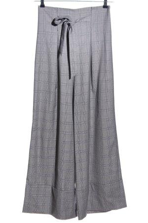 Paper London Pantalone culotte grigio chiaro-nero motivo a quadri elegante