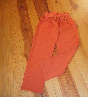 Pantalon taille haute orange