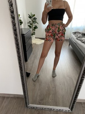 Paperbag Bunt Korall Schleife Shorts