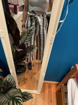 H&M Pantalone culotte bianco sporco-antracite