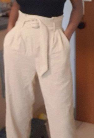 Pantalon taille haute bronze
