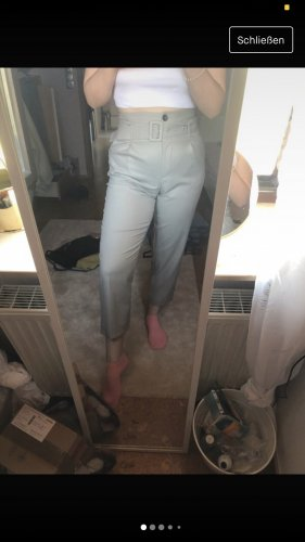 Topshop Paperbag Trousers light grey
