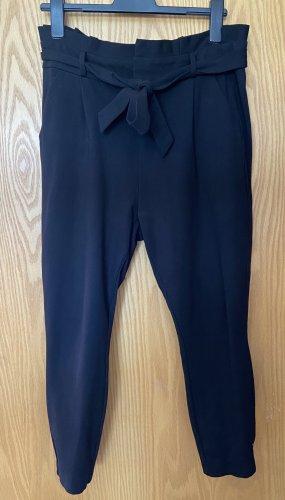 Vero Moda Spodnie wiązane w talii czarny