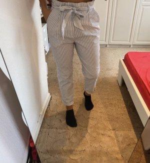 H&M Pantalon pattes d'éléphant blanc-bleu azur