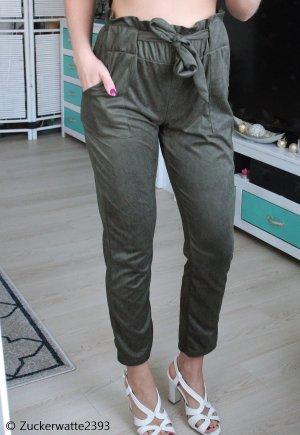 Pantalon taille haute vert foncé