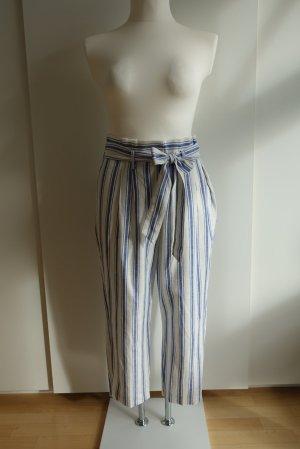 Boden Pantalone di lino bianco-blu acciaio