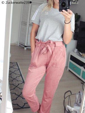 Pantalon taille haute vieux rose-rose