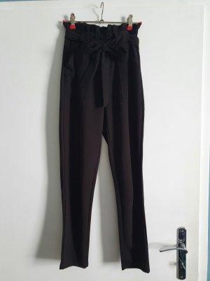 Boohoo Pantalone a vita alta nero
