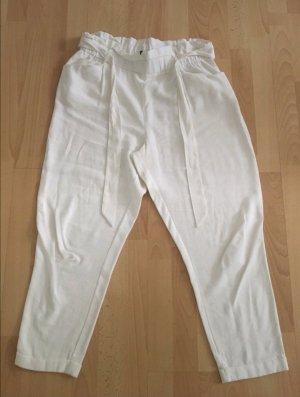 Zara Pantalon à pinces blanc cassé-crème