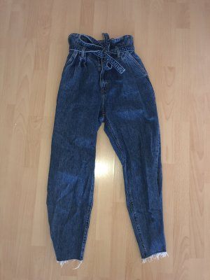 Abercrombie & Fitch Hoge taille jeans blauw-donkerblauw