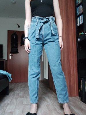 Paperbag Jeans mit Bindgürtel 26/30 von Topshop