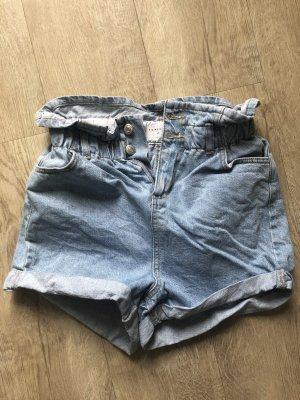 Paperbag Jeansshorts Topshop
